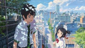 """Taki (à gauche) et Mitsuha (à droite), les deux protagonistes du film d'animation """"Your Name"""""""